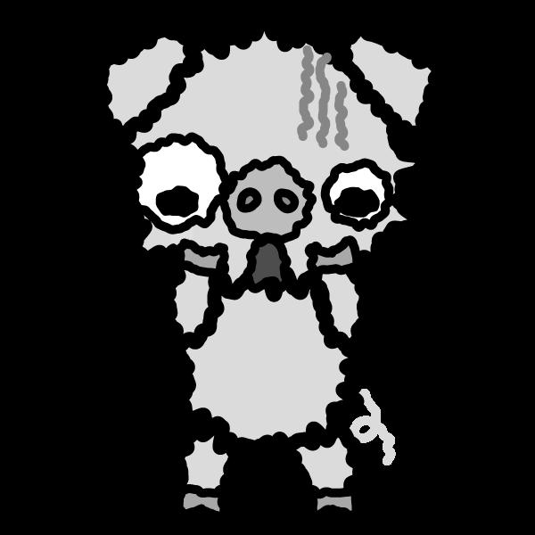 pig_fear-monochrome