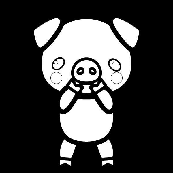 pig_glad-blackwhite