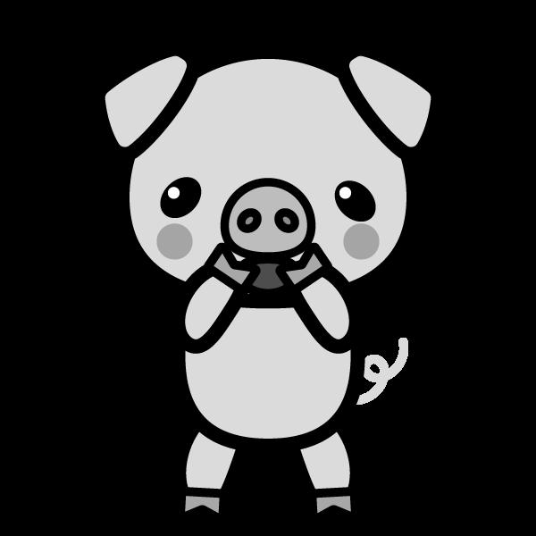pig_glad-monochrome