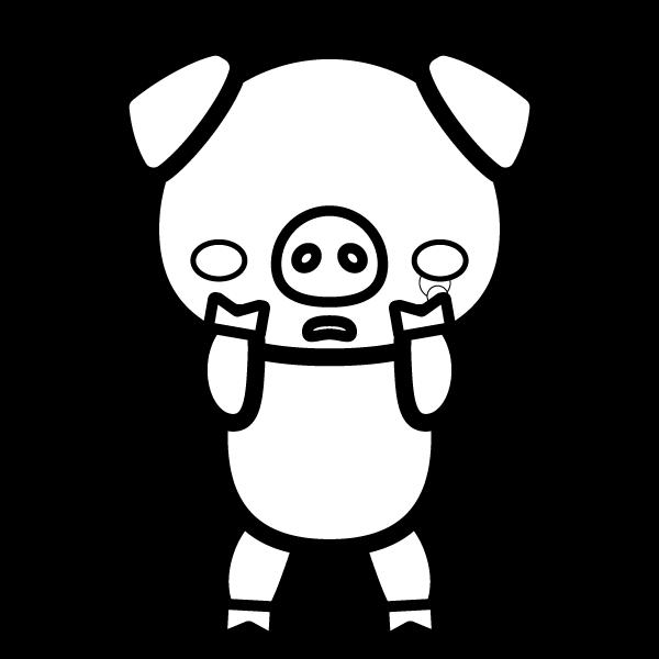 pig_sad-blackwhite