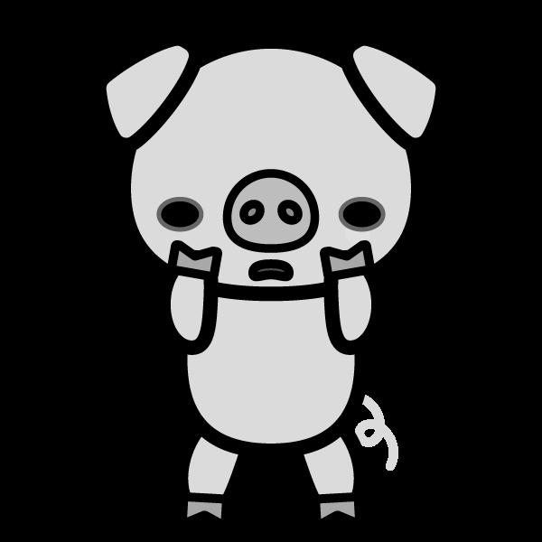 pig_sad-monochrome