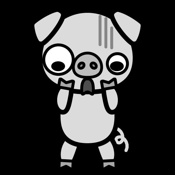 pig_shock-monochrome