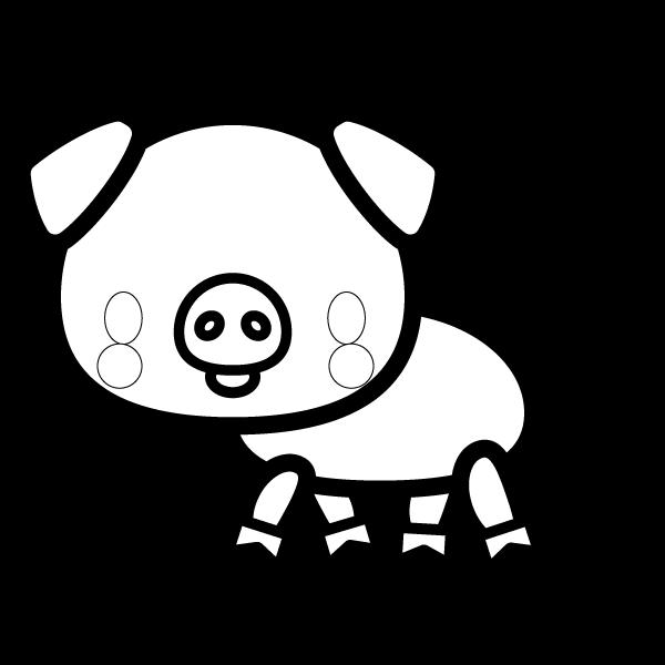 pig_side-blackwhite