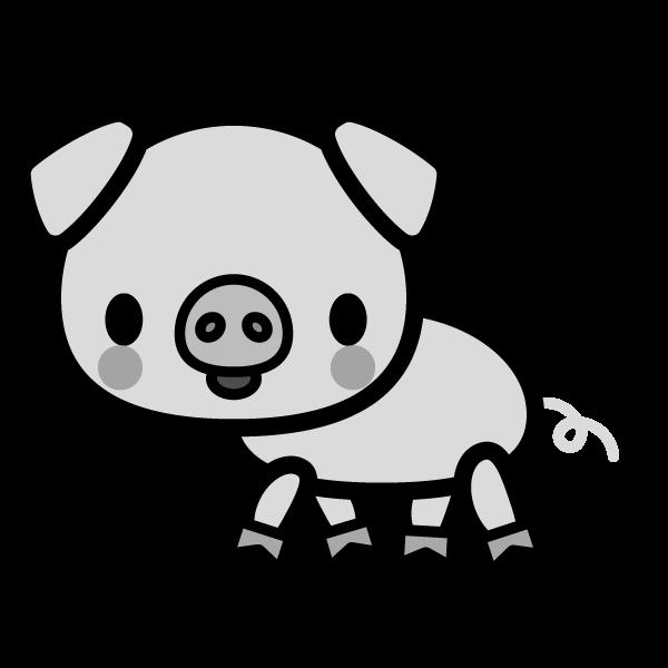 pig_side-monochrome