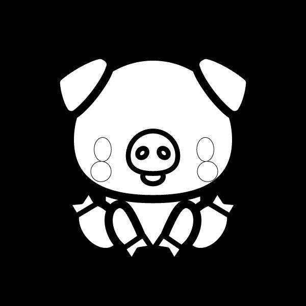 pig_sit-blackwhite