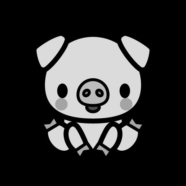 pig_sit-monochrome