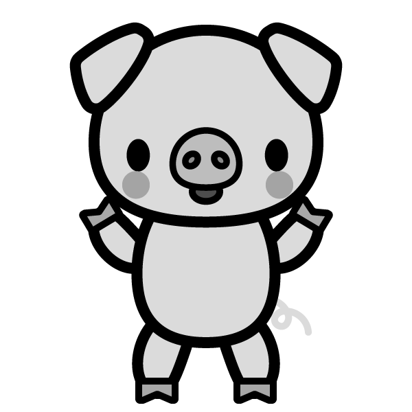 pig_stand-monochrome
