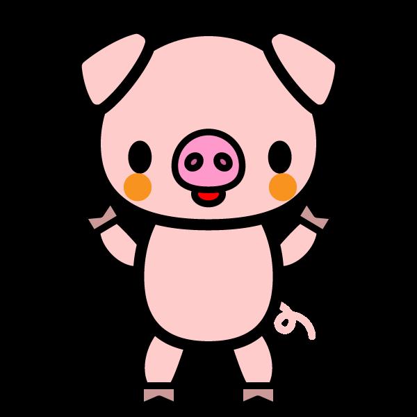 かわいい豚の無料イラスト・商用フリー