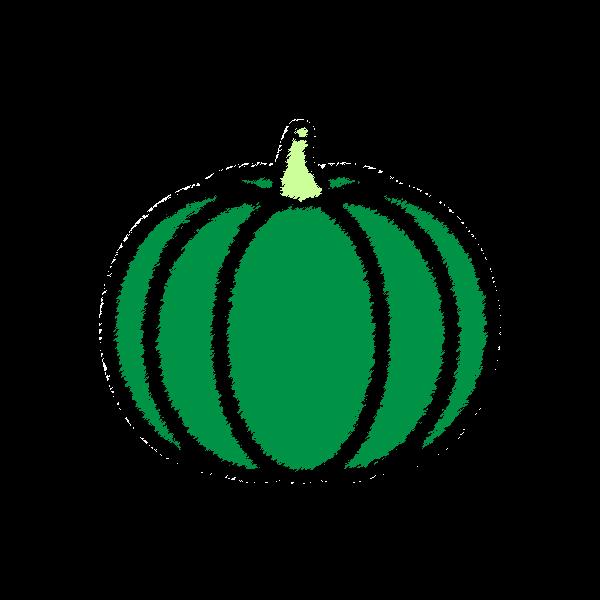 手書き風でかわいいかぼちゃの無料イラスト・商用フリー