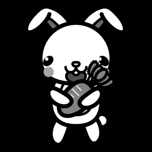 rabbit_carrot-monochrome