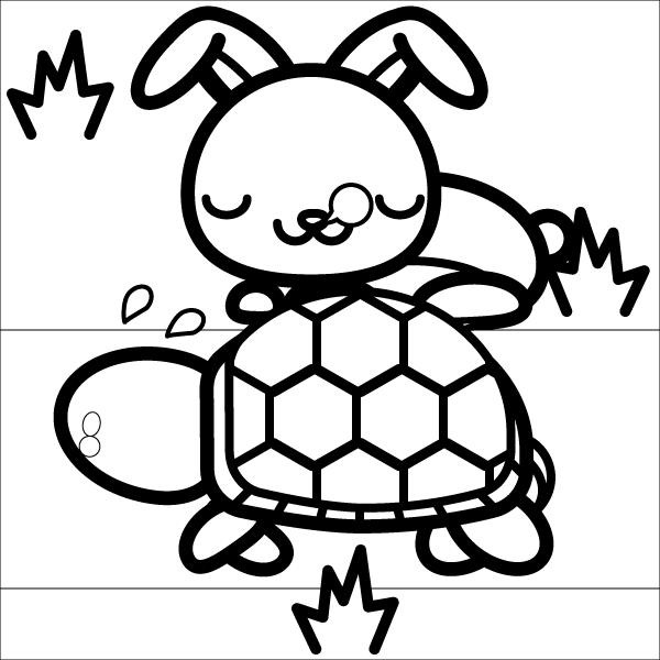 rabbit_tortoise-blackwhite