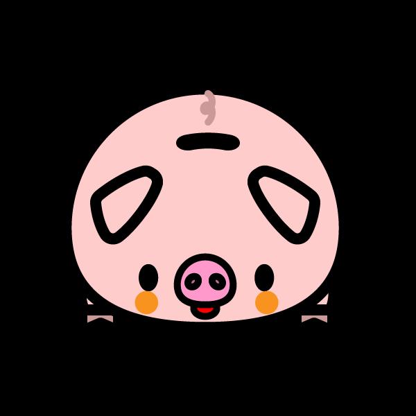 かわいい豚の貯金箱の無料イラスト・商用フリー