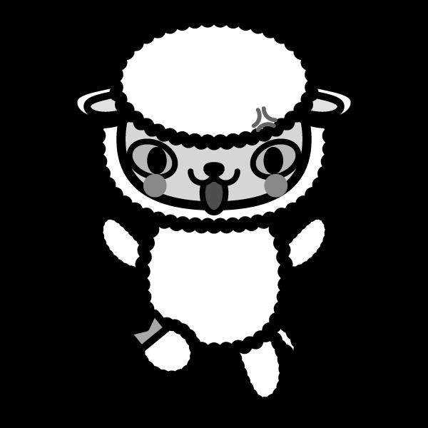 sheep_angry-monochrome