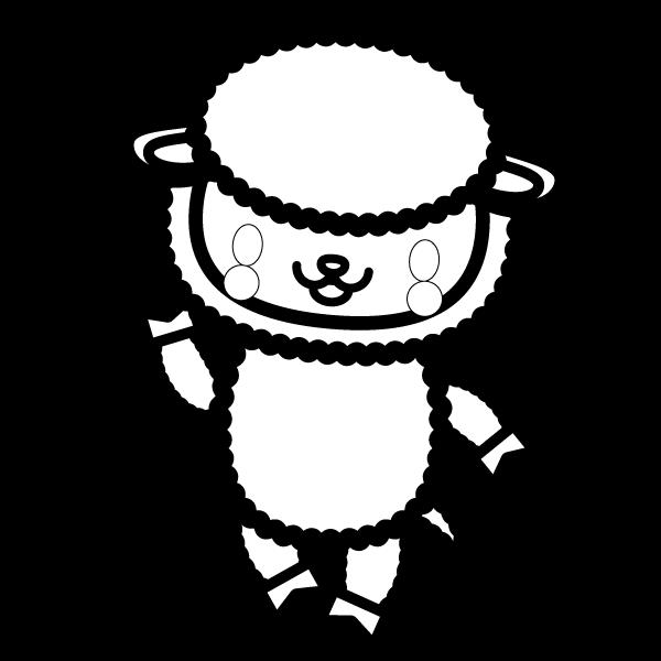 sheep_enjoy-blackwhite