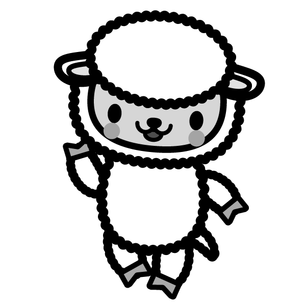 sheep_enjoy-monochrome