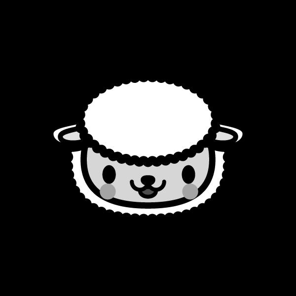 sheep_face-monochrome