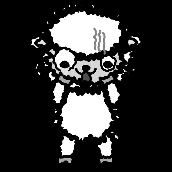 sheep_fear-monochrome