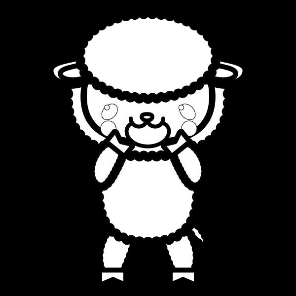 sheep_glad-blackwhite