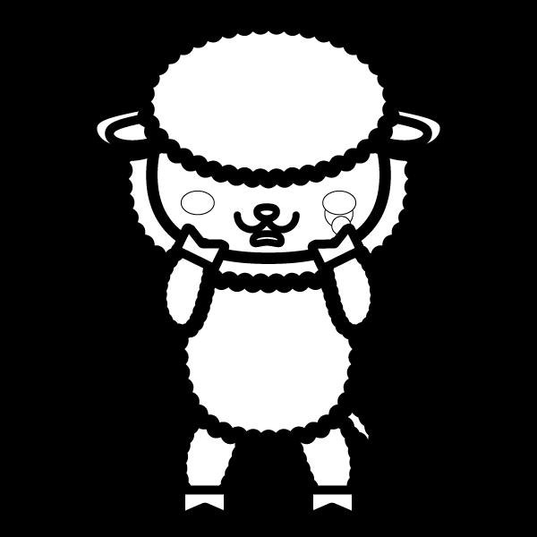 sheep_sad-blackwhite