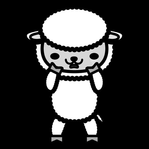 sheep_sad-monochrome