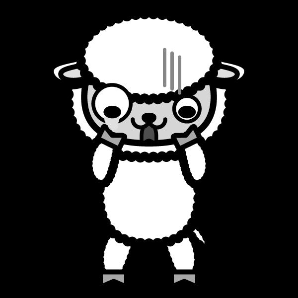 sheep_shock-monochrome