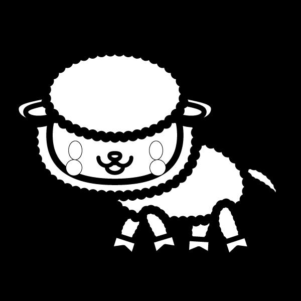 sheep_side-blackwhite