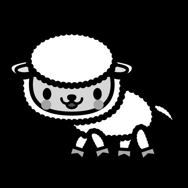 sheep_side-monochrome