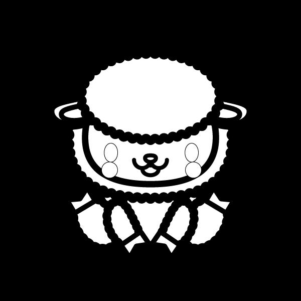 sheep_sit-blackwhite