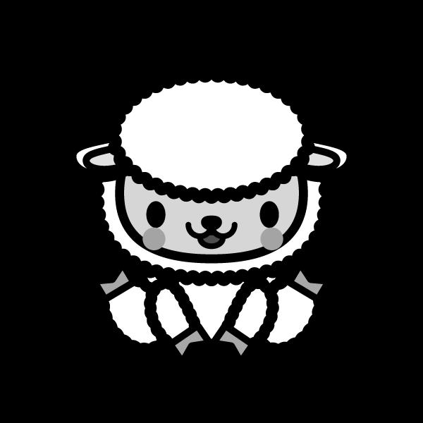 sheep_sit-monochrome