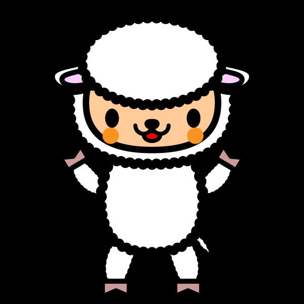 かわいい羊の無料イラスト・商用フリー