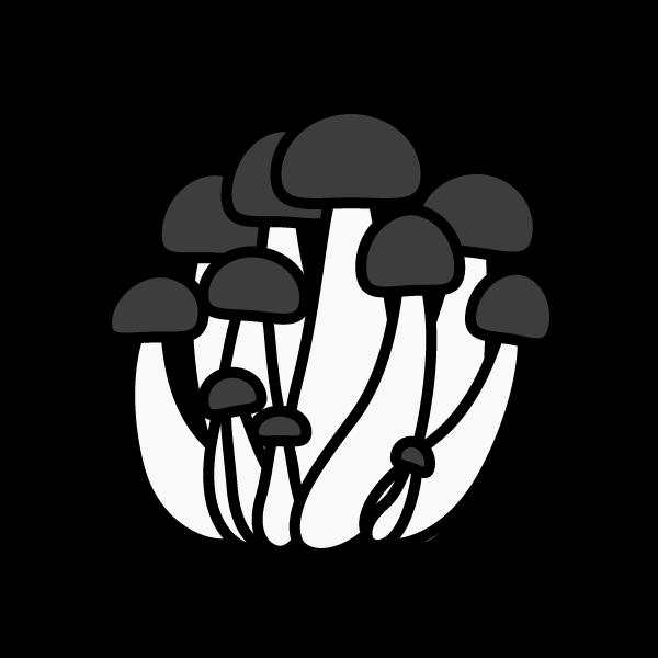 shimeji-mushroom_01-monochrome