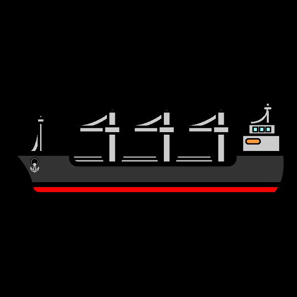 かわいい貨物船の無料イラスト・商用フリー