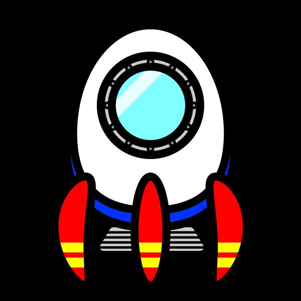 かわいい宇宙船の無料イラスト・商用フリー