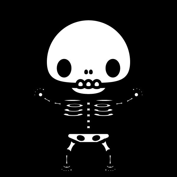 かわいい骸骨の無料イラスト・商用フリー
