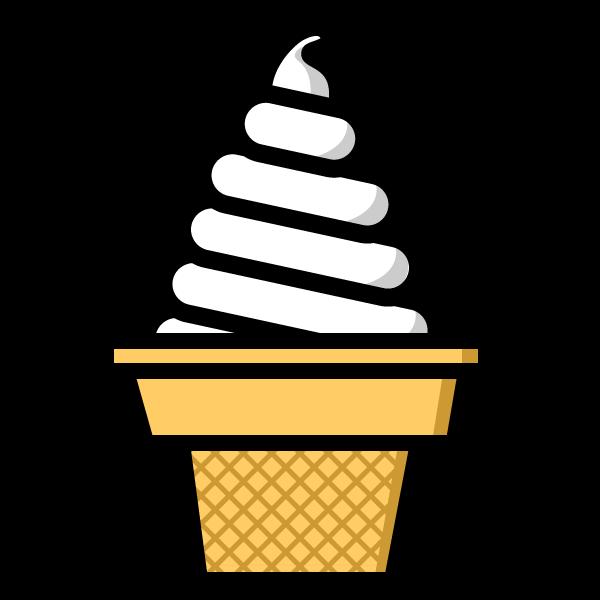 かわいいソフトクリームの無料イラスト・商用フリー