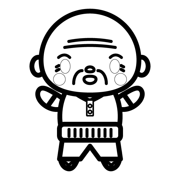 suteteko-grandfather_01-blackwhite
