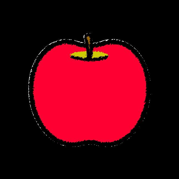 手書き風でかわいいりんごの無料イラスト・商用フリー