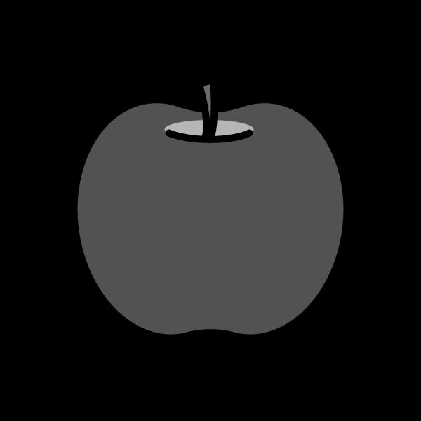 モノクロでかわいいりんごの無料イラスト・商用フリー