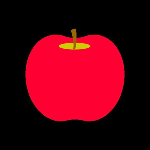 縁無しでかわいいりんごの無料イラスト・商用フリー