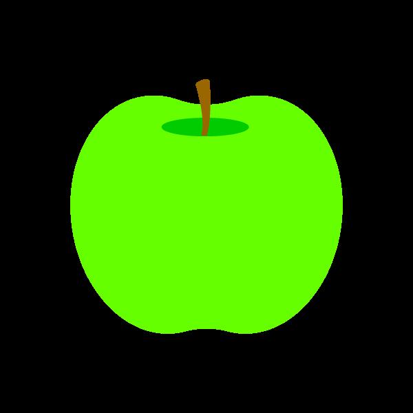 縁無しでかわいい青りんごの無料イラスト・商用フリー