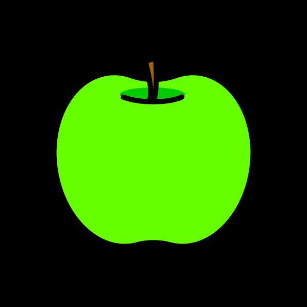 かわいい青りんごの無料イラスト・商用フリー