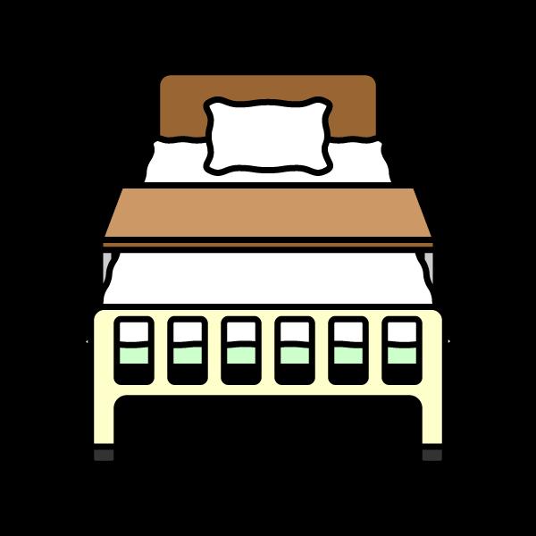 かわいい病院ベッドの無料イラスト・商用フリー