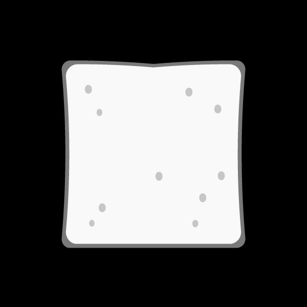 モノクロでかわいい食パンの無料イラスト・商用フリー