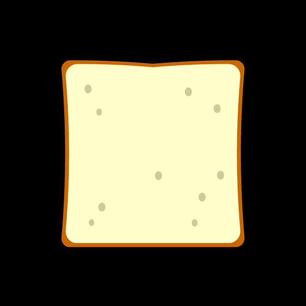 かわいい食パンの無料イラスト・商用フリー
