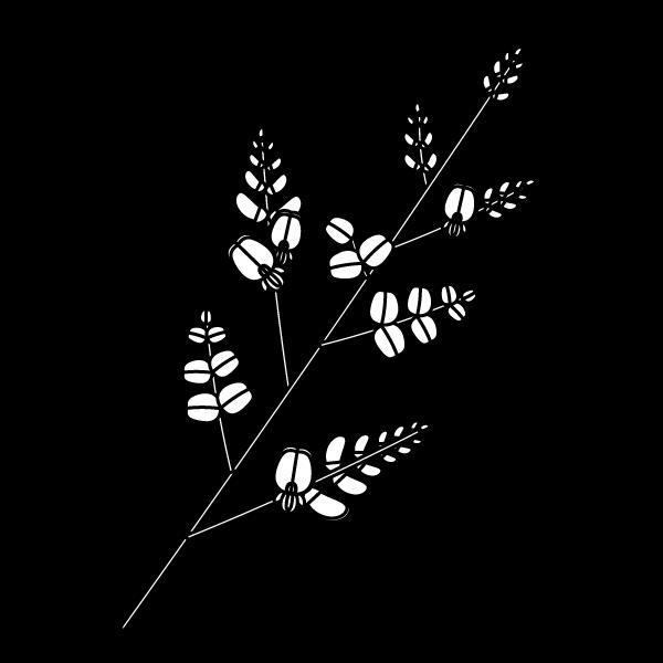 塗り絵に最適な白黒でかわいい萩の無料イラスト・商用フリー