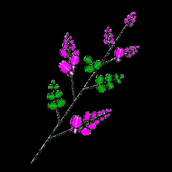 手書き風でかわいい萩の無料イラスト・商用フリー
