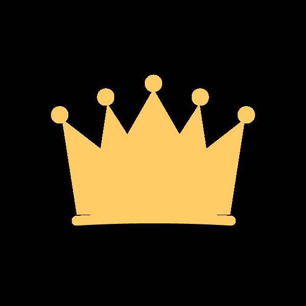 縁無しでかわいい王冠の無料イラスト・商用フリー