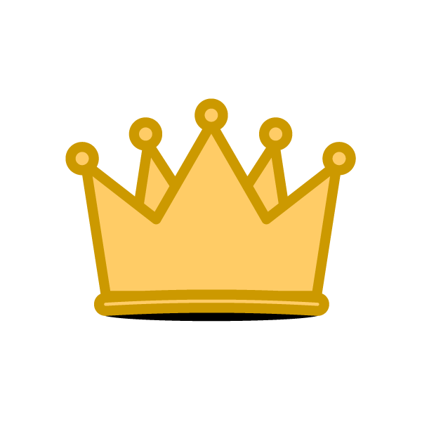 ソフトタッチでかわいい王冠の無料イラスト・商用フリー