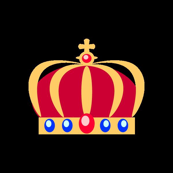 縁無しでかわいい王冠2の無料イラスト・商用フリー