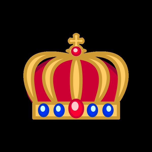 ソフトタッチでかわいい王冠2の無料イラスト・商用フリー